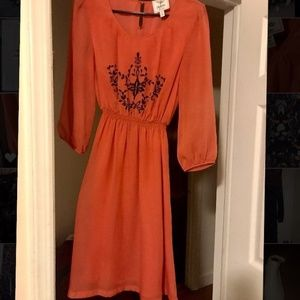 Urban Outfitters Piplette Alice Ritter Orange Dres